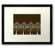 Colorful Four Seasons Trees Framed Print