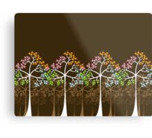 Colorful Four Seasons Trees Metal Print