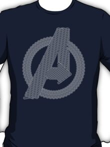 Celtic Avengers A logo, White Outline, no Fill T-Shirt