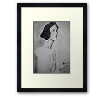 Portrait with apple Framed Print