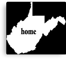West Virginia Home Tshirts - Custom Clothing Canvas Print