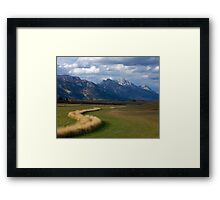 Curving To The Grand Framed Print