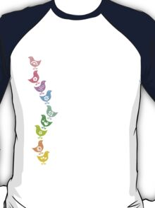 Balancing Retro Rainbow Chicks T-Shirt