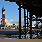 Under Central Pier, Blackpool by Nicholas Coates