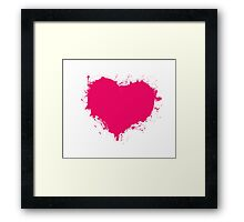 Grungy Heart Tees and Accessories! Framed Print