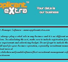 Recruitment Manager Software - www.applicantextra.com by candidsoftware
