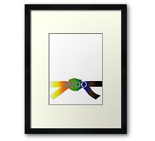 Judo Belt - Gradient Framed Print