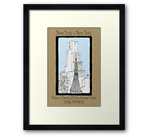 NYC~Church Steeple, open the doors and see all the people Framed Print