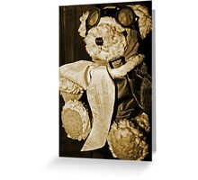 Teddy The Pilot Greeting Card