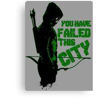 Green Vigilante Canvas Print