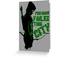 Green Vigilante Greeting Card