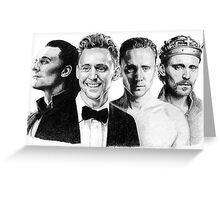 The Many Faces of Tom Hiddleston Greeting Card