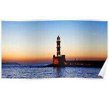 sunset in Chania, Crete Poster