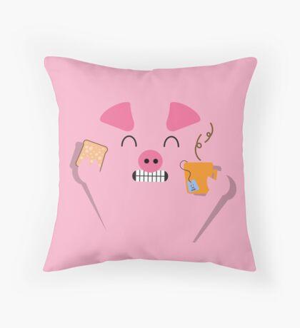 Happy Pig - Breakfast Throw Pillow