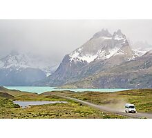 On the Road in the Torres del Paine National Park Photographic Print