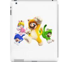 Cat Mario, Luigi, Peach and Toad - Super Mario Bros iPad Case/Skin