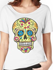 skull yellow 2 Women's Relaxed Fit T-Shirt