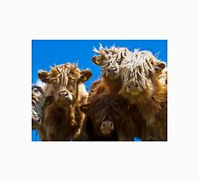 Friendly curious highland cattle Unisex T-Shirt