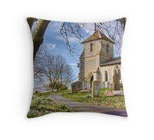 St Mary the Virgin, Clothall Throw Pillow