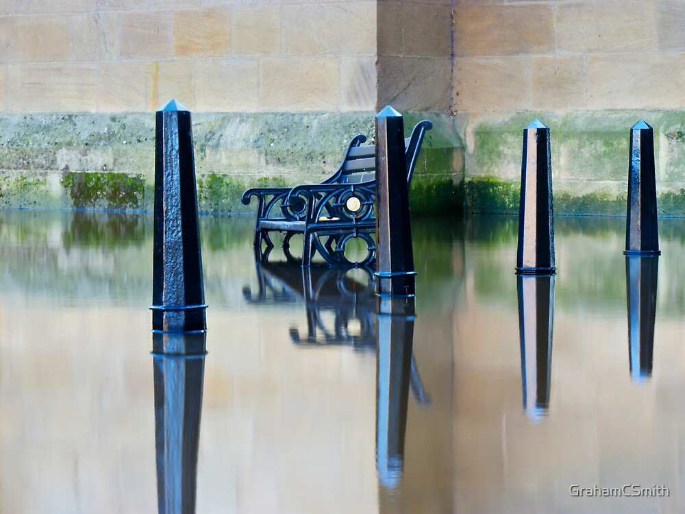 Ouse in Flood, York, England by GrahamCSmith