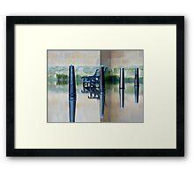 Ouse in Flood, York, England Framed Print