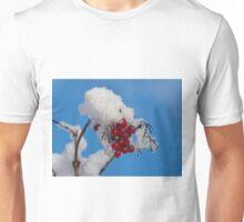 Winter Berries in Snow Unisex T-Shirt