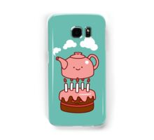 tea with cake Samsung Galaxy Case/Skin