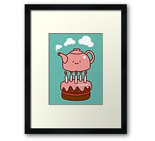 tea with cake Framed Print