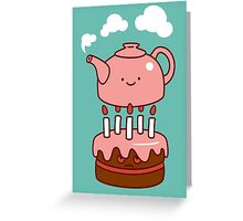 tea with cake Greeting Card