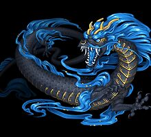 Azure Kyu Dragon by Eskiworks