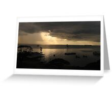 sunset at stone town Greeting Card