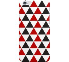 Red, Black & White Triangle pattern  iPhone Case/Skin