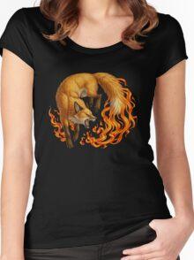 Vulpine Fire Women's Fitted Scoop T-Shirt