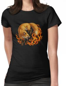 Vulpine Fire Womens Fitted T-Shirt