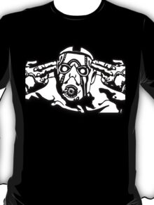 Borderlands - Psycho Black and White T-Shirt