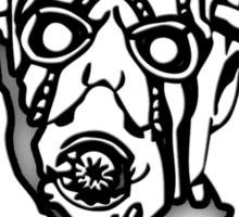 Borderlands - Psycho Black and White Sticker