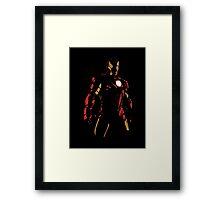 The Avengers - Iron Man Minimal Figure Black Background (2) Framed Print