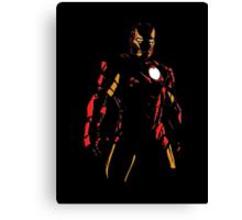 The Avengers - Iron Man Minimal Figure Black Background (2) Canvas Print