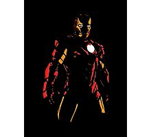 The Avengers - Iron Man Minimal Figure Black Background (2) Photographic Print