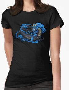 Azure Kyu Dragon Womens Fitted T-Shirt