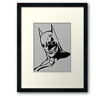 Batman - Minimal Figure the Dark Knight Framed Print