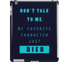 Nerd - Don't Talk to Me iPad Case/Skin