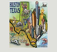 Houston Texas Cartoon Map Unisex T-Shirt