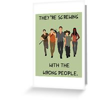 The Walking Dead - Carl, Rick, Glenn, Daryl, Michonne Greeting Card