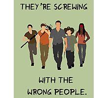 The Walking Dead - Carl, Rick, Glenn, Daryl, Michonne Photographic Print