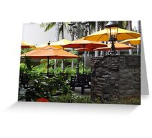 Colourful Umbrellas In L.A. Greeting Card