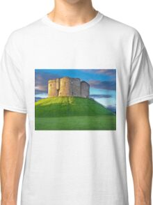 Clifford's Tower, York, England Classic T-Shirt