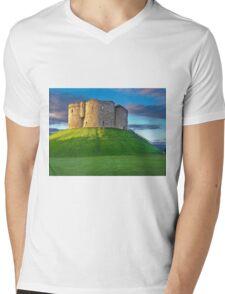 Clifford's Tower, York, England Mens V-Neck T-Shirt