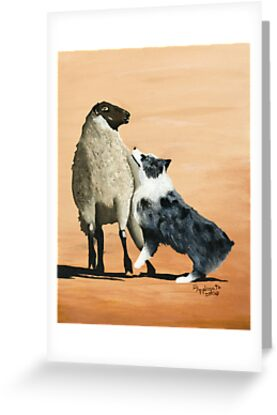 One Tough Sheepdog ~ Australian Shepherd ~ oil painting by Barbara Applegate