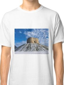 Clifford's Tower, York, in Winter Classic T-Shirt